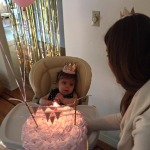Dont' forget the highchair! Everyone wants a glipse of the bday girl!
